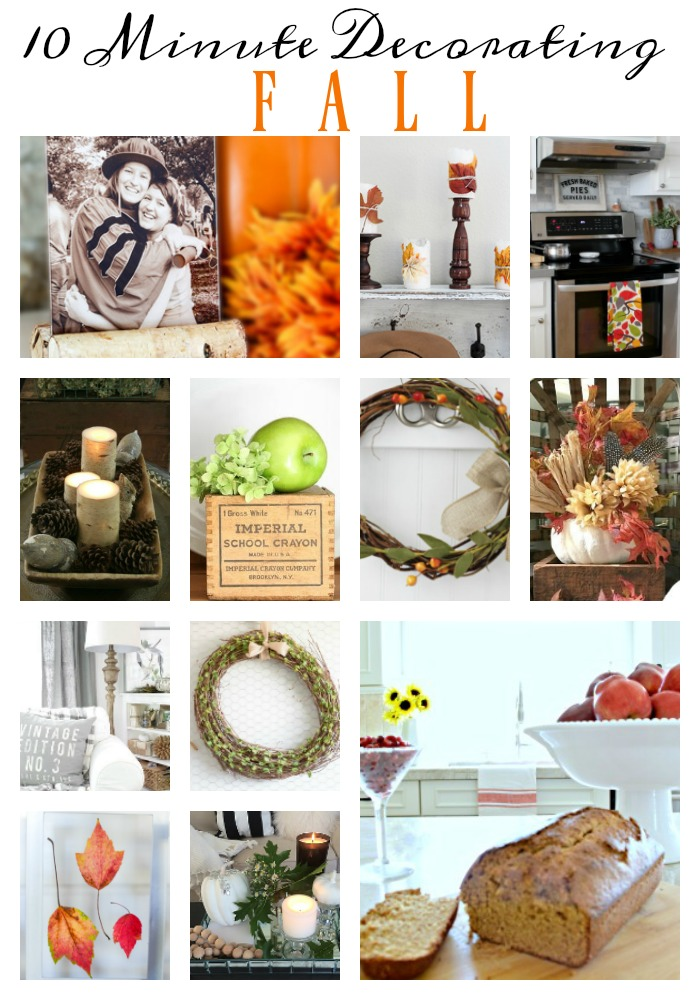 10 Minute Easy Fall Decor Ideas