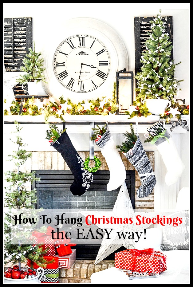 d5aa4500f065 HOW TO HANG CHRISTMAS STOCKING THE EASY WAY! What a brilliant idea!