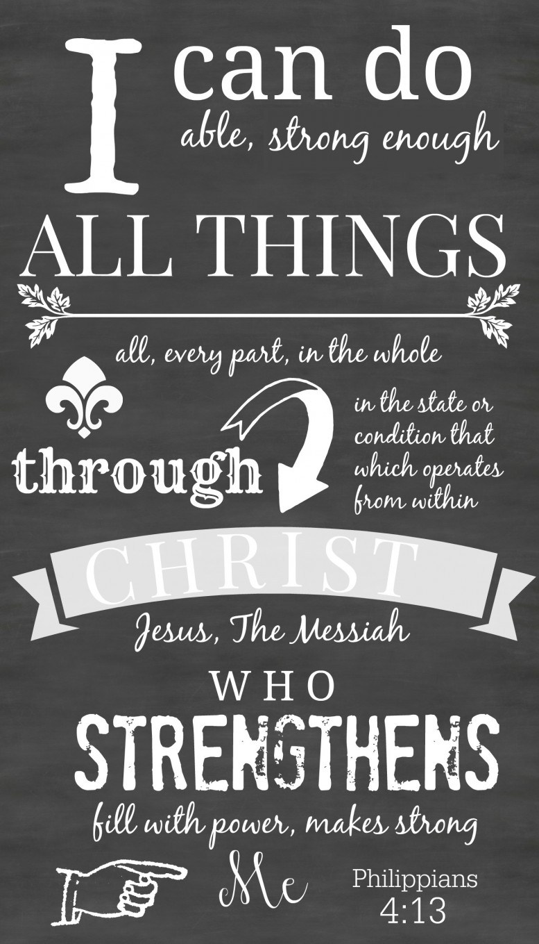 photo regarding Free Printable Scripture Word Art called PHILIPPIANS 4:13 PRINTABLE Artwork - StoneGable