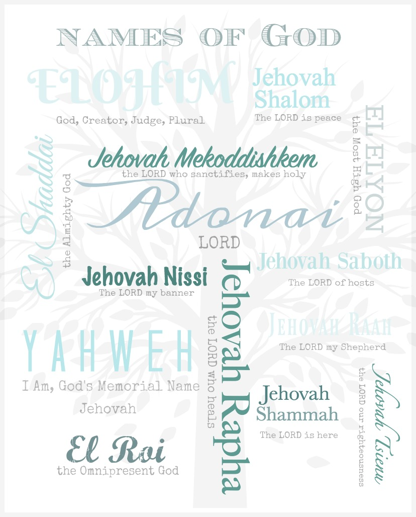 NAMES OF GOD PRINTABLE - StoneGable