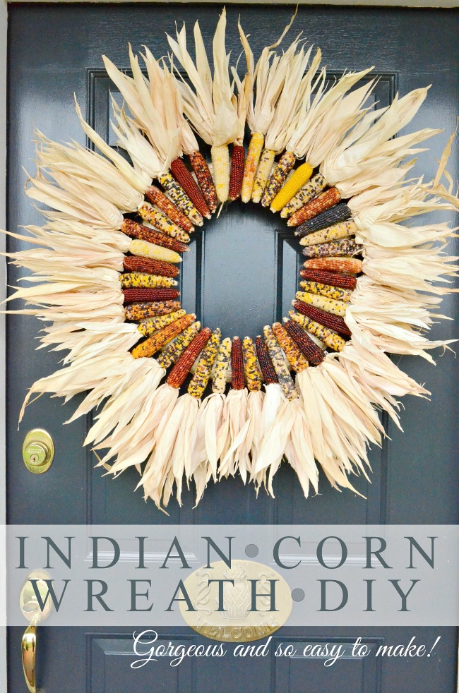BEAUTIFUL INDIAN CORN WREATH