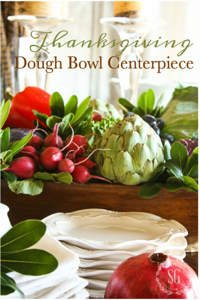 THANKSGIVING DOUGH BOWL CENTERPIECE