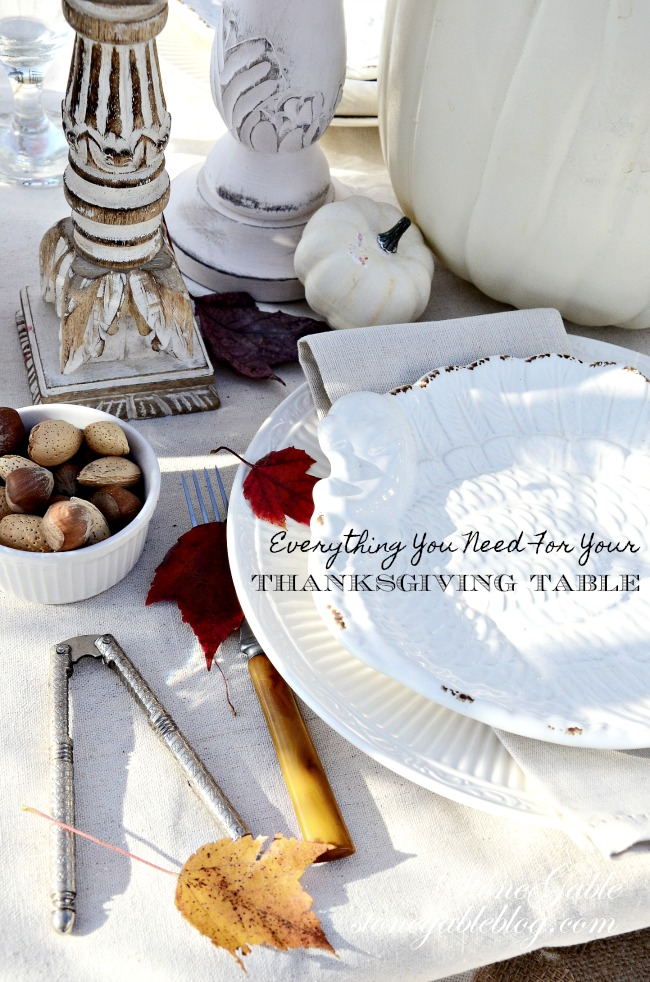 EVERYTHING YOU NEED FOR YOUR THANKSGIVING TABLE