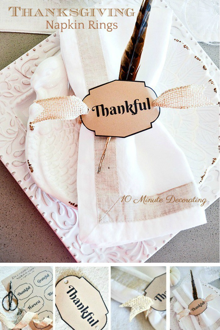 Thanksgiving 10 Minute Napkin Ring Diy Stonegable