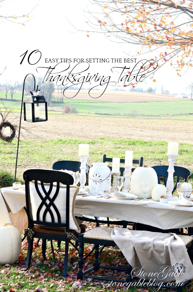 10 EASY TIPS FOR SETTING THE BEST THANKSGIVING TABLE EVER!
