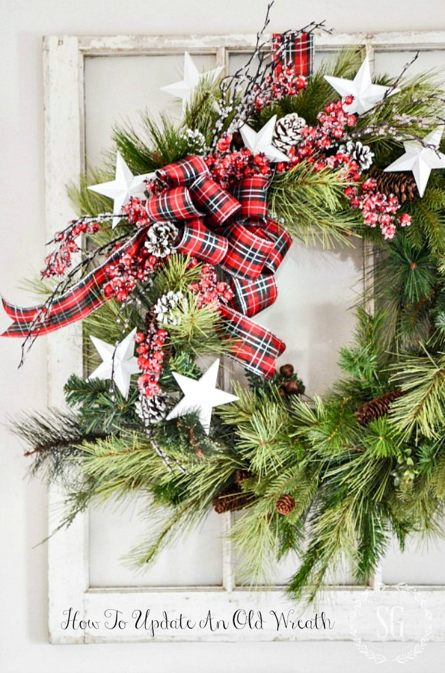 HOW TO UPDATE AN OLD WREATH