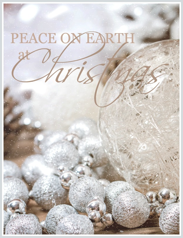 PEACE ON EARTH AT CHRISTMAS