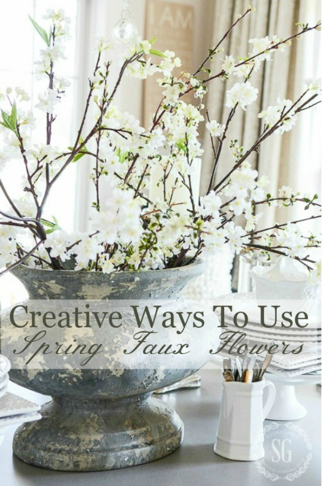 CREATIVE WAYS TO USE  FAUX FLOWERS
