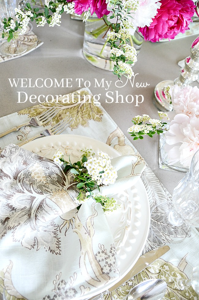 WELCOME TO MY NEW DECORATING SHOP! - StoneGable