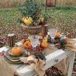 An Outdoor Tablescape- Among The Fallen Leaves