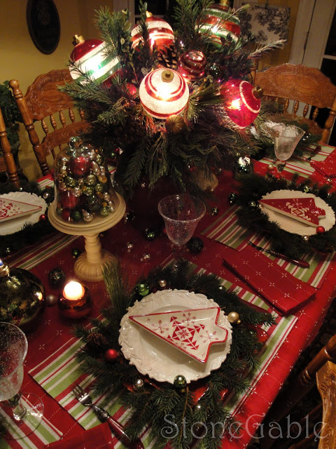 Decking the Halls Christmas Tablescape