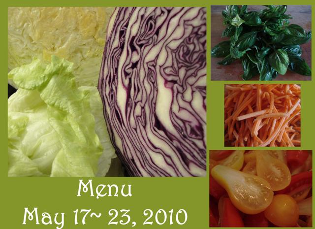 Menu Plan May 17~23, 2010