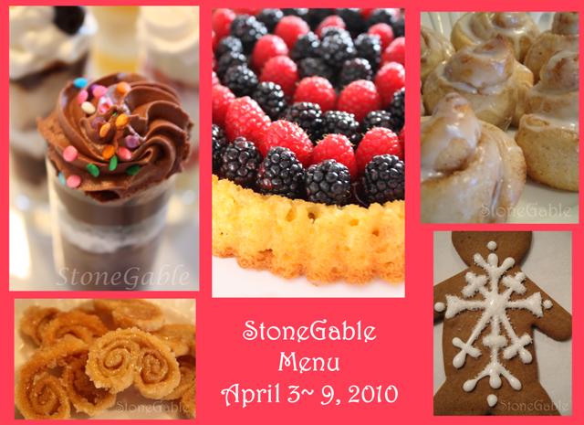 StoneGable Menu Plan & Inspiration Party