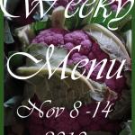 Weekly Menu, November 8 ~ 14, 2010