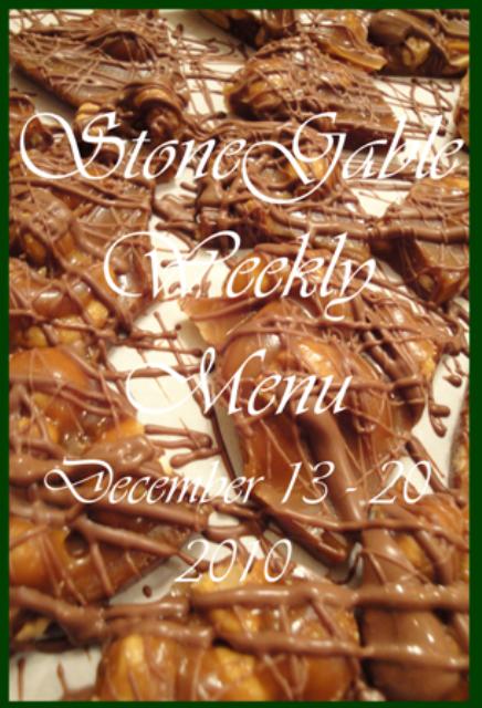 Weekly Menu  December 13~ 19, 2010
