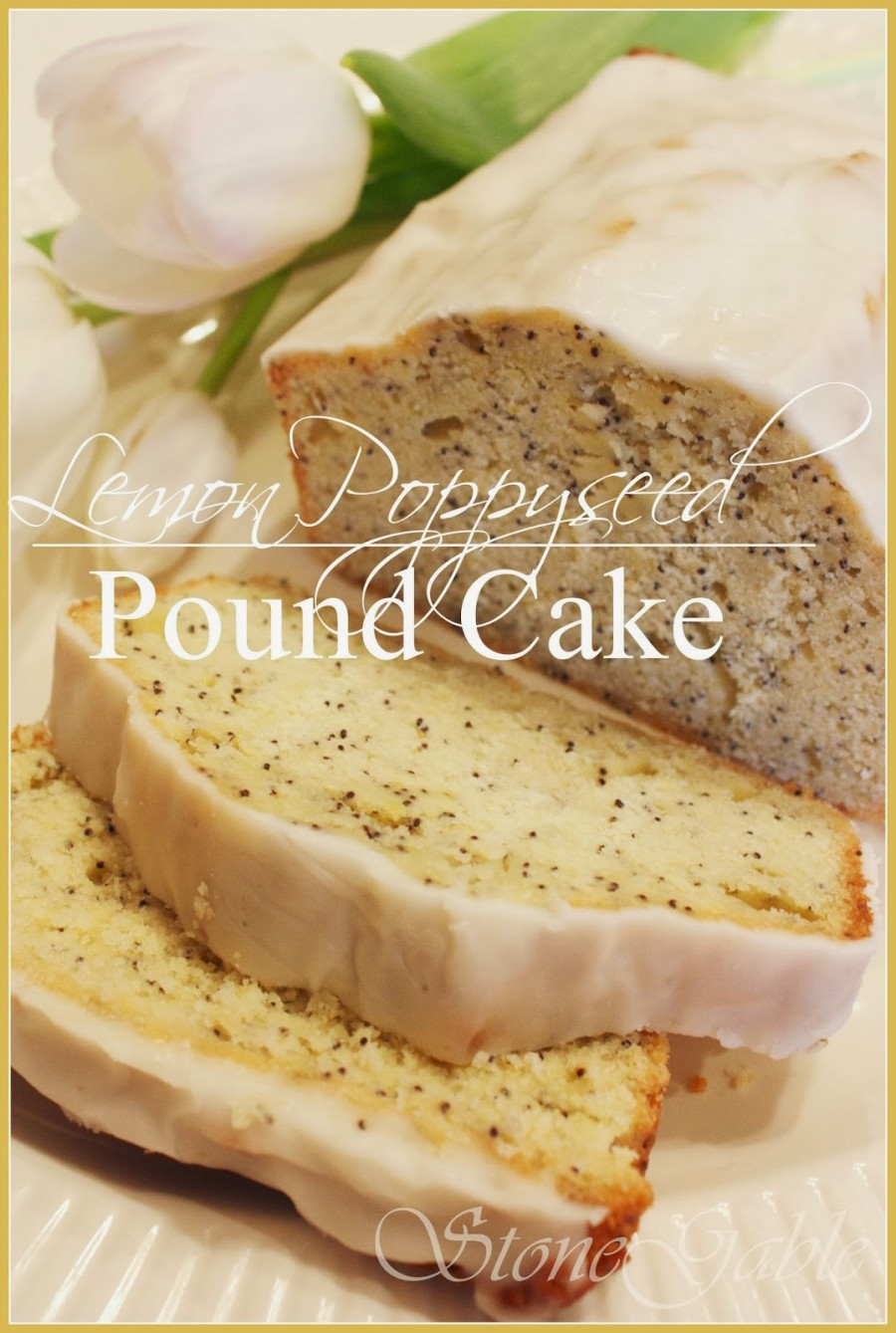 Lemon Poppyseed Pound Cake is on the menu this month. Dense, moist and ...