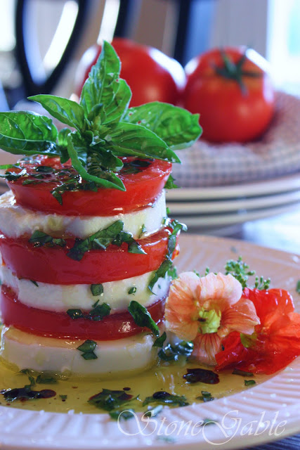 CAPRESE TOWERS~ SUMMER ON A PLATE
