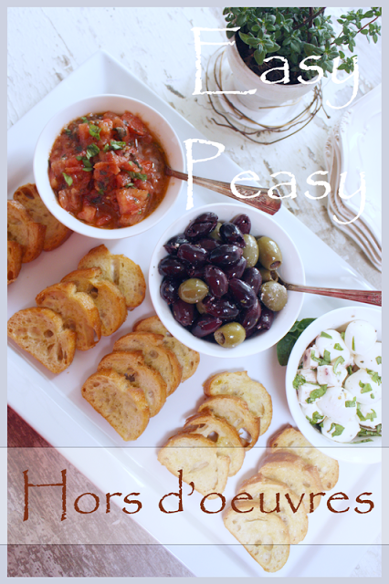 EASY PEASY HORS D'OEUVRES