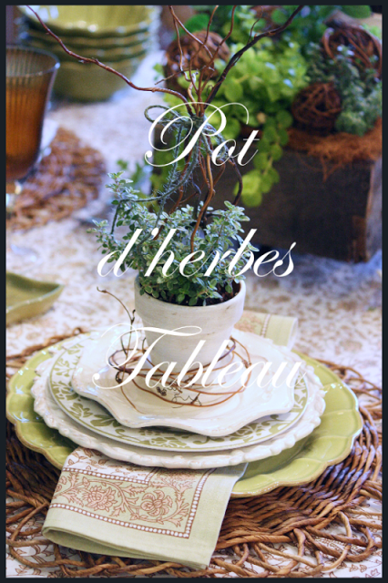 POTS d'herbes TABLEAU