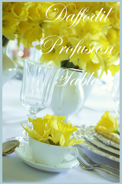 DAFFODIL PROFUSION TABLE