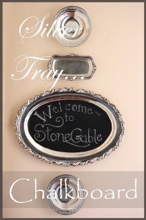 A WARM WELCOME~ SILVER TRAY CHALKBOARD