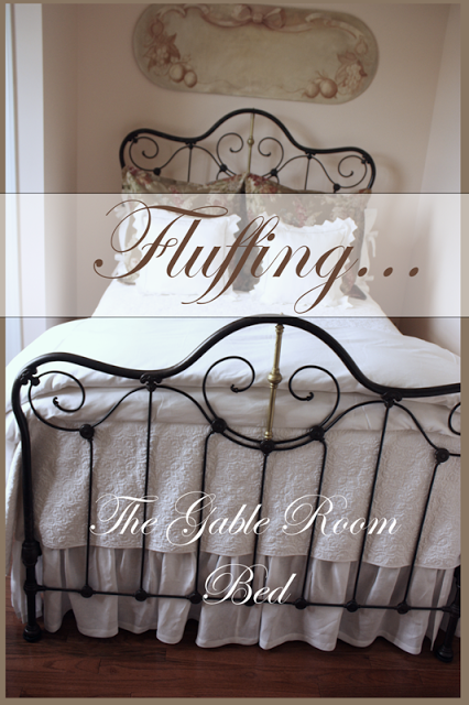 FLUFFING… The Guest Room Bed