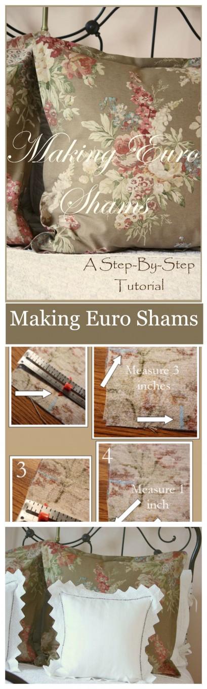 MAKING EURO SHAMS- a step by step tutorial-stonegableblog.com