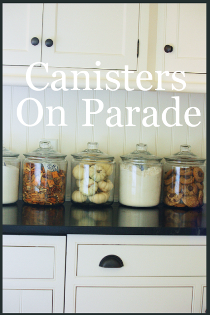 canisters on parade stonegable cottage kitchen mini makeover fox hollow cottage