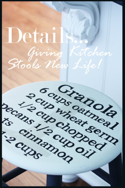 DETAILS… GIVING KITCHEN STOOLS NEW LIFE