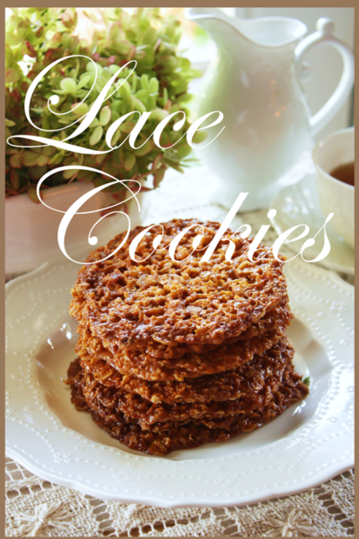 Lace Cookies title Page - BLOG