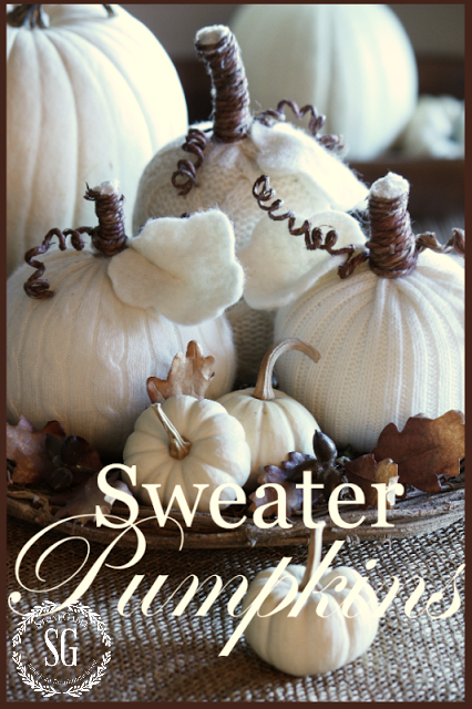 Sweater Pumpkin Image for Gooseberry Patch Newsletter-stonegableblog.com