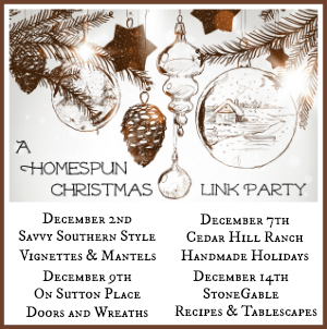 A HOMESPUN CHRISTMAS LINKY PARTY