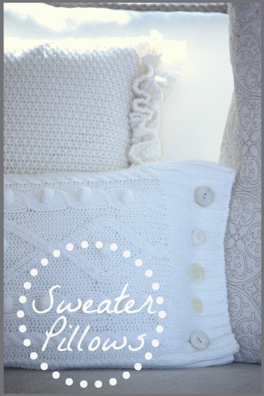 Sweater Pillow Title Page - BLOG