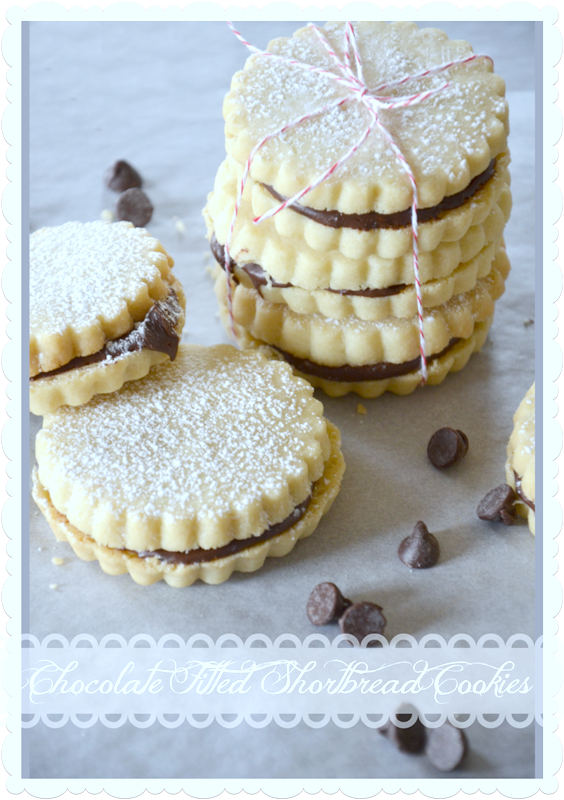 CHOCOLATE FILLED SHORTBREAD COOKIES-So simple and scrumptious and fun to make- stongableblog.com