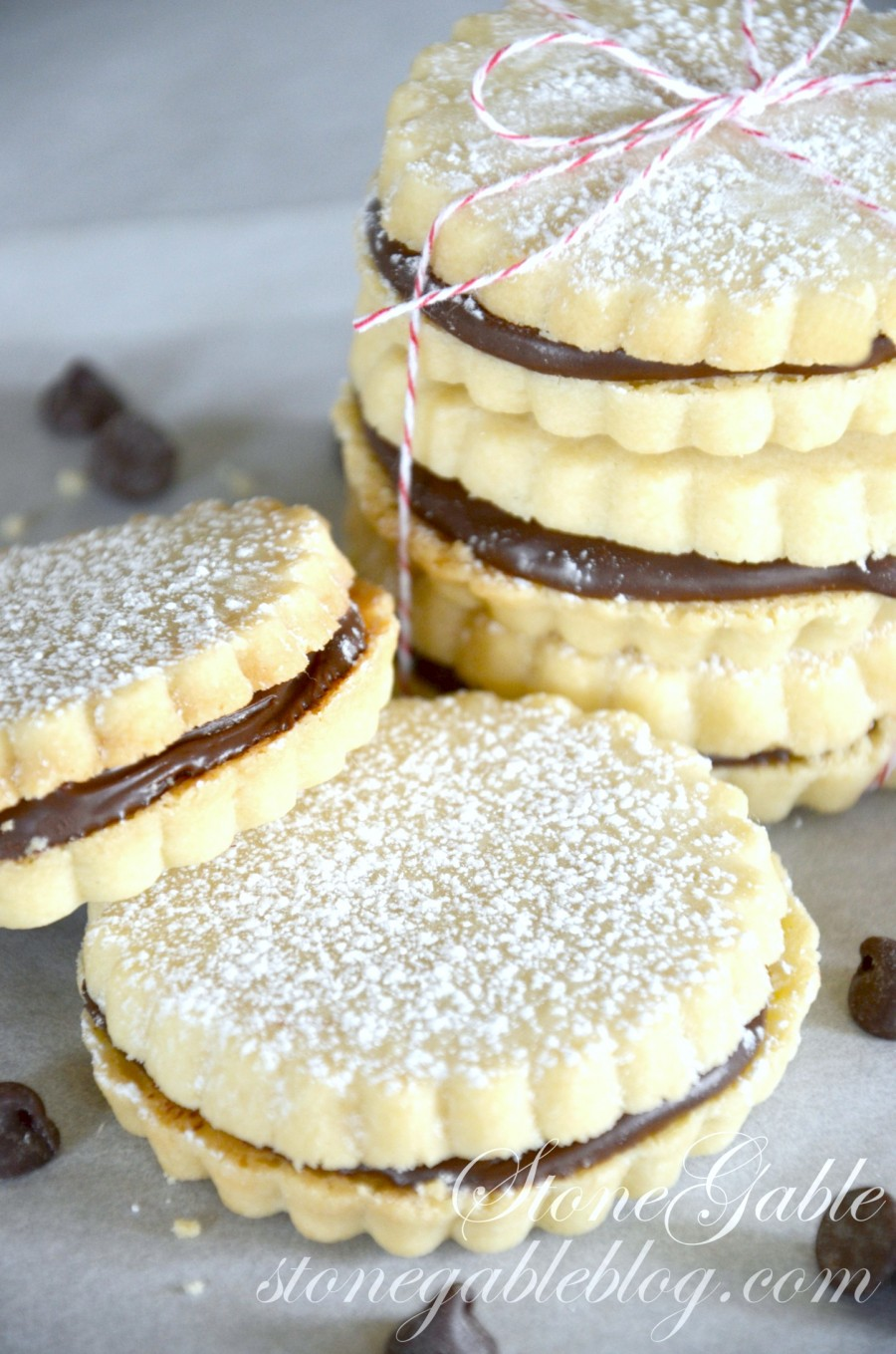 CHOCOLATE FILLED SHORTBREAD COOKIES- shortbreads- stongableblog.com