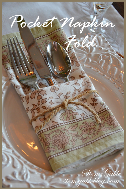 POCKET NAPKIN FOLD TUTORIAL