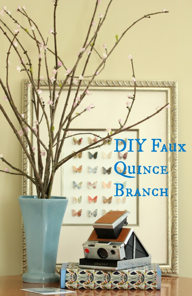 DIY Faux Quince Branch