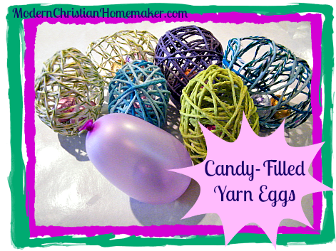 Candy Filled Yarn Eggs Main