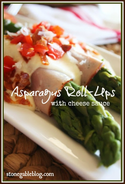 ASPARAGUS ROLL-UPS WITH CHEESE SAUCE