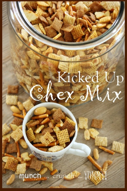 KICKED UP CHEX MIX- Better and more intense flavors! stonegableblog.com