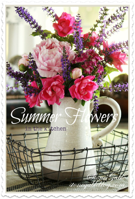 Summer Flowers In The Kitchen Stonegable