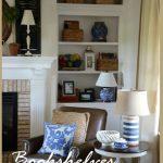 BOOKSHELVES IN THE FAMILY ROOM