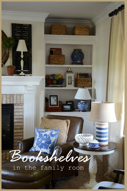 BOOKSHELVES IN THE FAMILY ROOM