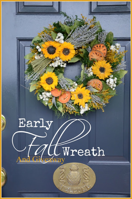 EARLY FALL WREATH AND GIVEAWAY