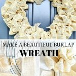 white burlap wreath
