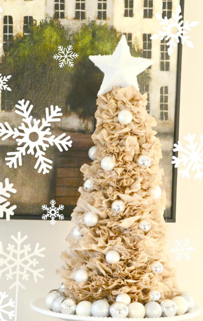 Coffee Christmas Ornament.Coffee Filter Tree And Wreath Diy Stonegable