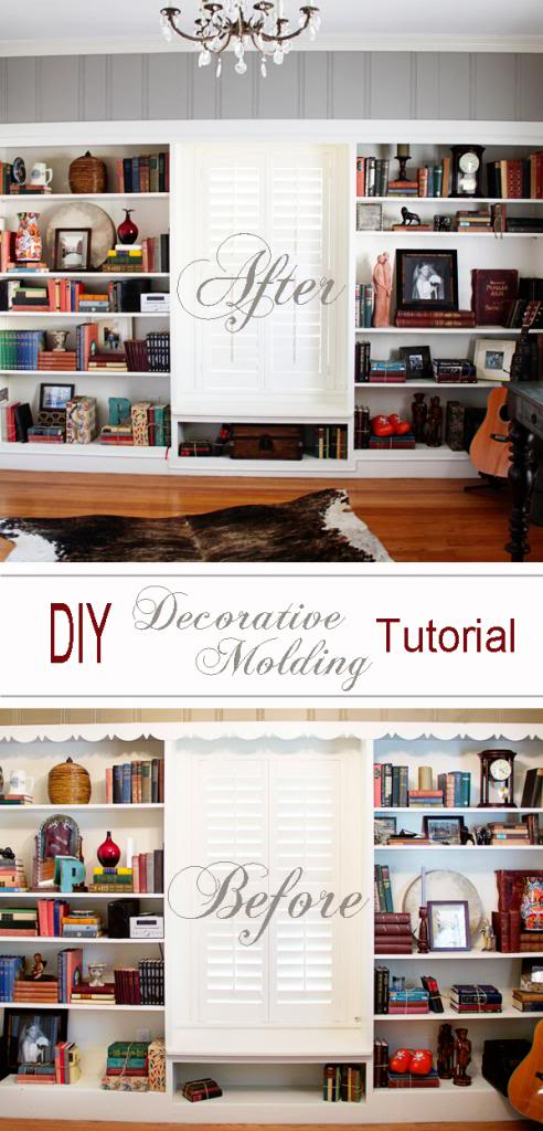 DIY Decorative Molding Before and After