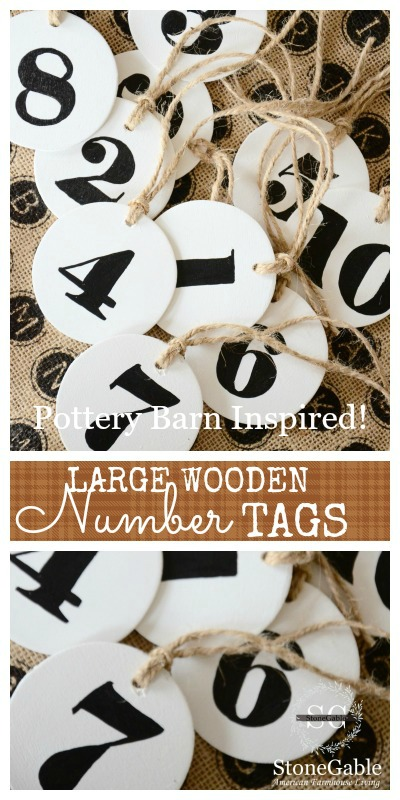LARGE WOODEN NUMBER TAGS-PIN-STONEGABLEBLOG