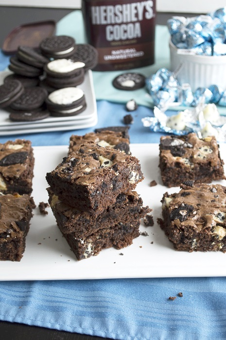 Oreo Cookies and Cream Brownies