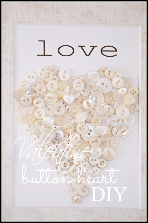 VALENTINE BUTTON HEART DIY